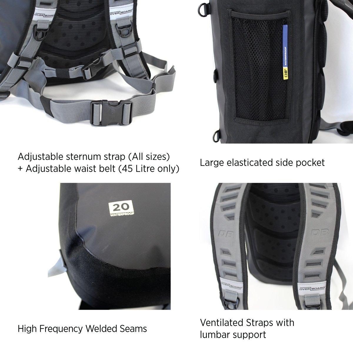 73fff4f8e94 OverBoard Classic Waterproof Backpack Rucksack  Amazon.co.uk  Sports    Outdoors