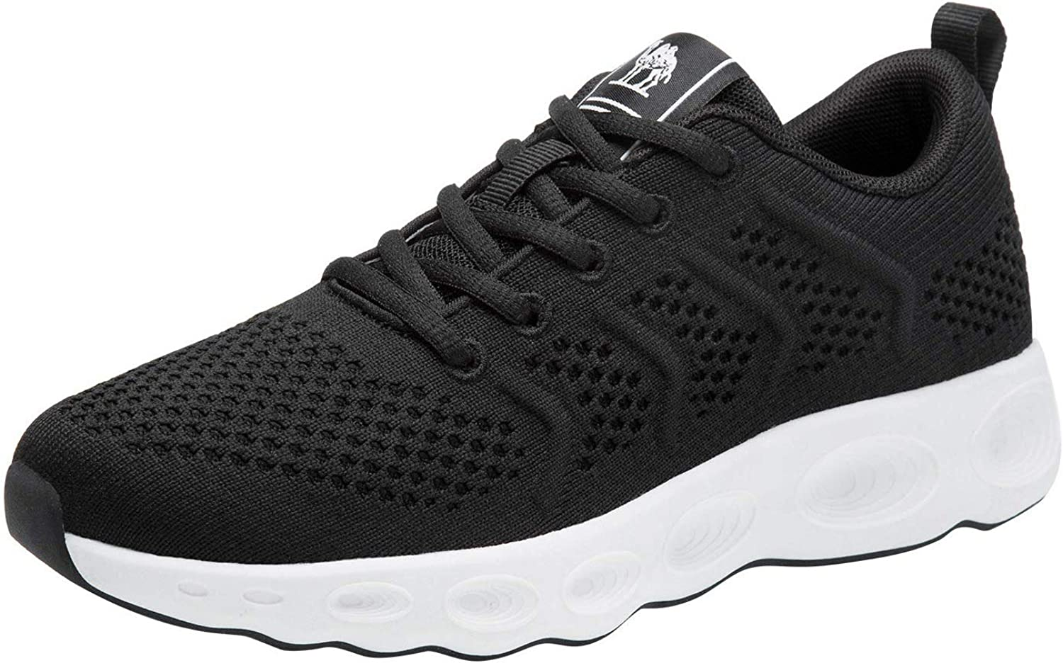 CAMEL CROWN Running Shoes Women Tennis Walking Trainning Trail Lightweight Comfortable Sneakers Athletic Gym Casual Footwear for Sports Outdoors Black White 9