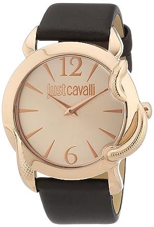 wholesale dealer 91e0f 8fb1c Just Cavalli Damen-Armbanduhr EDEN Analog Quarz Leder ...
