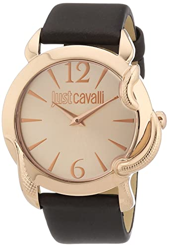 Just Cavalli Women s R7251576501 Eden Rose Gold Ion-Plated Coated Stainless Steel Brown Leather Watch