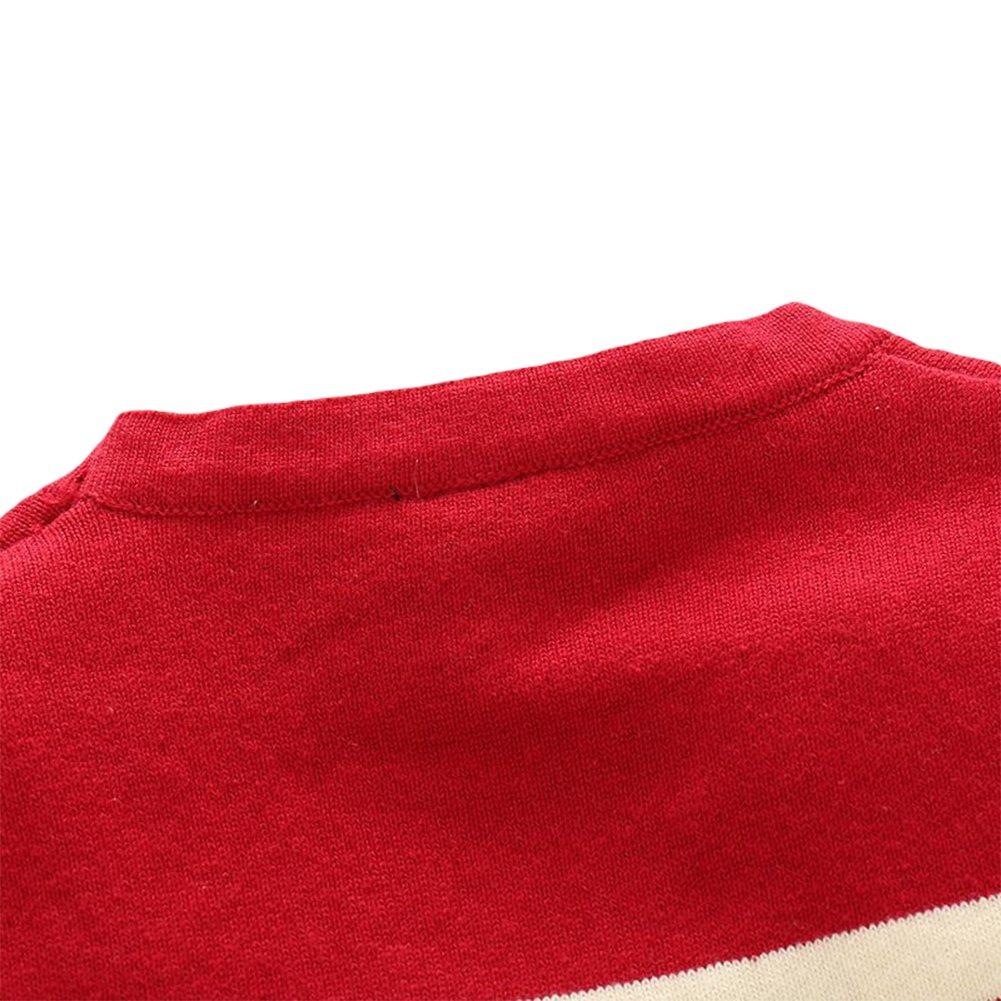 Goodkids Baby Long Sleeve Stripe Sweater Jacket Boys Cotton V-Neck Cardigan for 1-6 Years