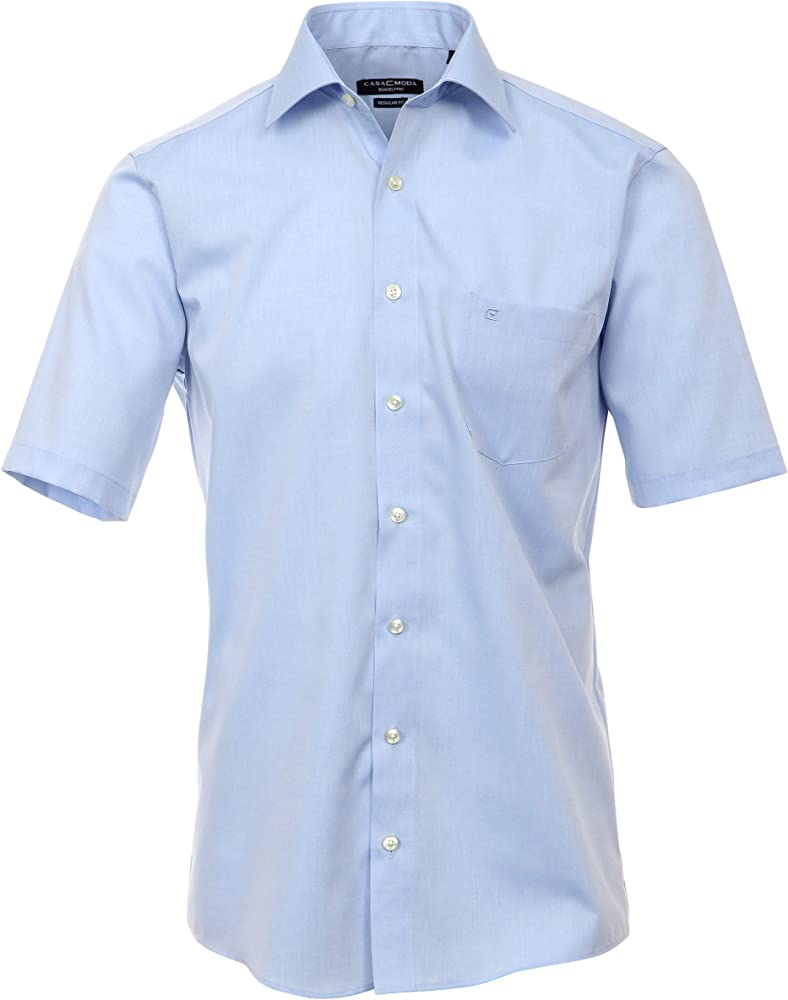Camisa del negocio para hombres, CASAMODA azul claro 41 ...
