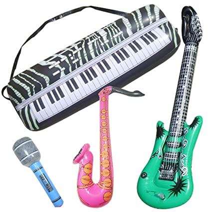 Guitarra hinchable simulada instrumento musical juguete Sax Organ ...