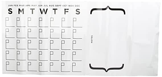 Amazon.com: RoomMates calendario de borrado en seco despegar ...