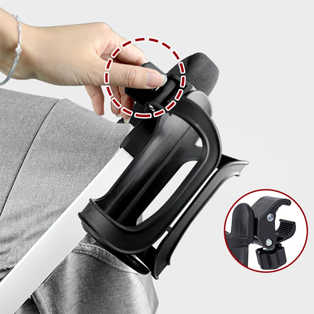 Motorcycle Universal 360 Degrees Rotation Antislip Cup Drink Holder for Baby Stroller//Pushchair Wheelchair 2 Packs Bike Cup Holder//Stroller Bottle Holders Bicycle