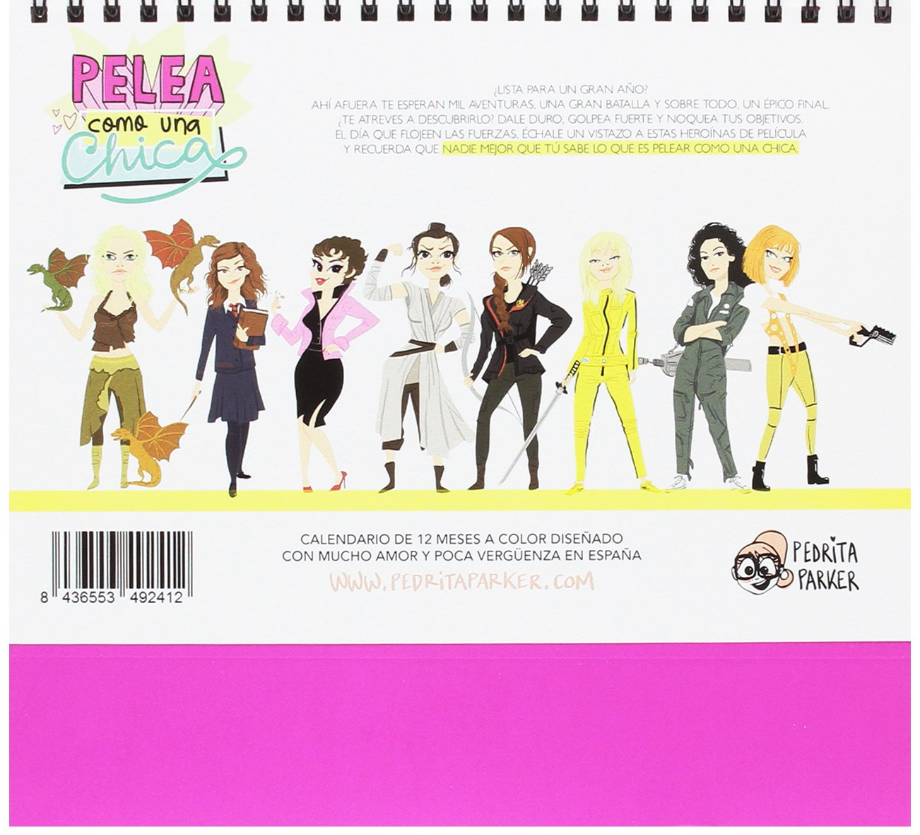 Pedrita Parker Pelea como una chica - Calendario de mesa 2017, 21 x 15 cm: Amazon.es: Oficina y papelería