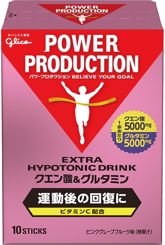 グリコ パワープロダクション エキストラ ハイポトニックドリンク クエン酸&グルタミン ピンクグレープフルーツ味 1袋 (12.4g) 10本 product image