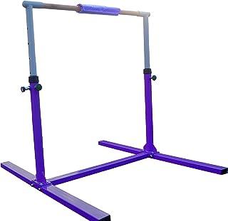 Seababyhouse Kip Barre fixe horizontale d'entraînement de gymnastique réglage pour enfants - 1,2m 2m violet 48.03*53.54*34.64-54.3 inch