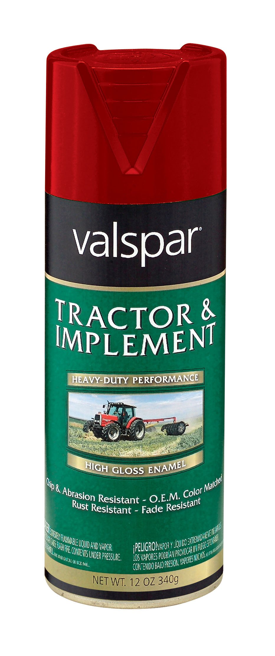 Valspar 5339-28 Husk Red Tractor and Implement Spray Paint - 12 oz.