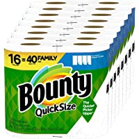 Quick-Size Paper Towels, 16 Family Rolls = 40 Regular Rolls (1 Pack)