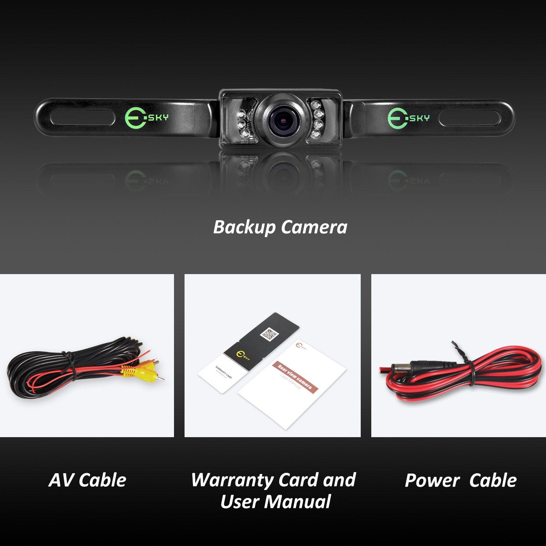 Amazon.com: 【Upgrade Version】Backup Camera, Esky Rear View Camera ...