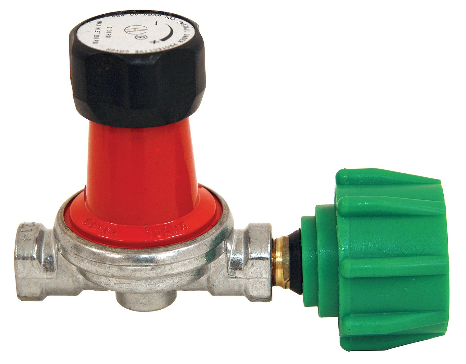 Bayou Classic 7850 0-30 PSI Adjustable High-Pressure Propane Regulator for 1/4-Inch Inlets and Outlets