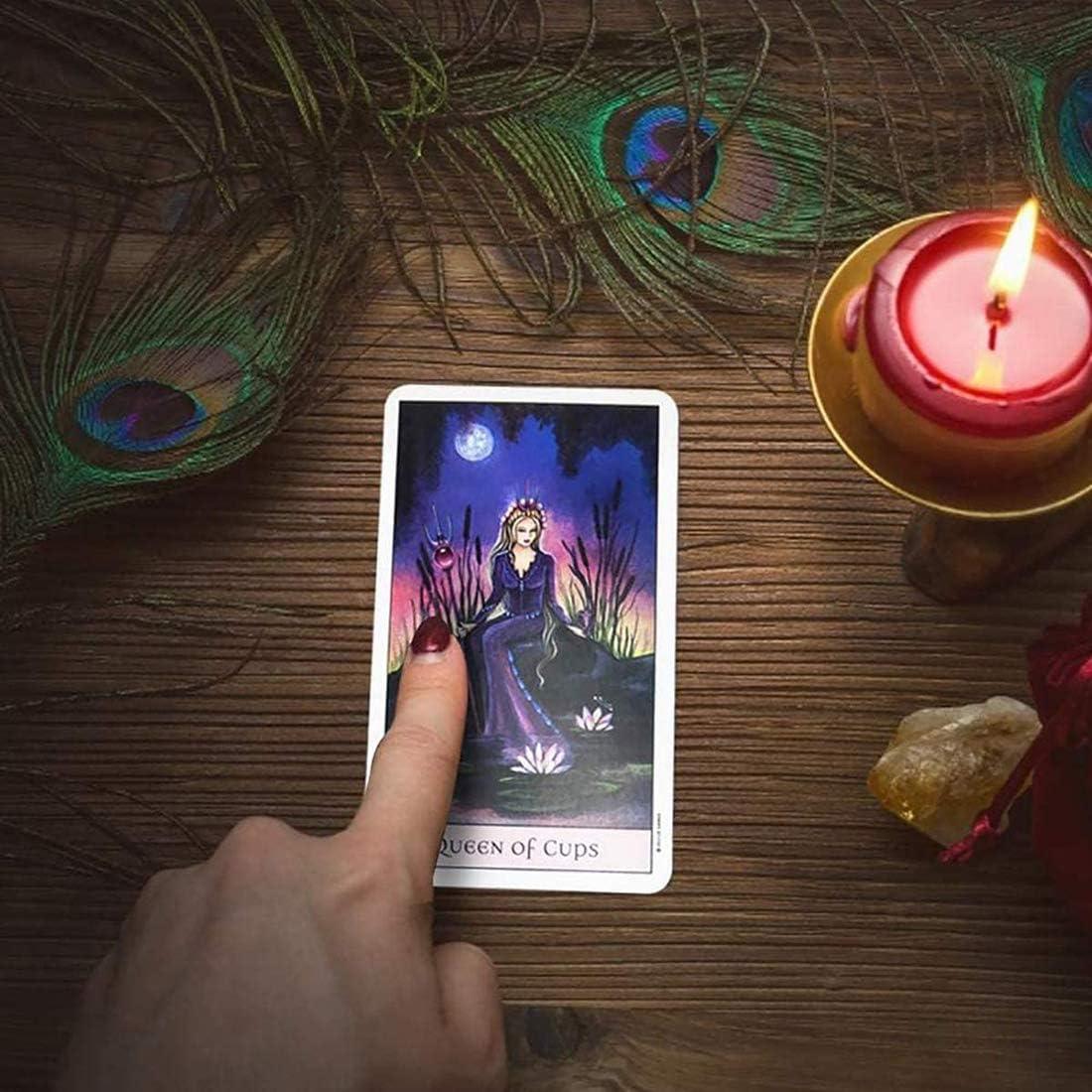 NXL Crystal Visions Tarot 78-Card Deck Tarot Cards Set Tarot Cards and Book for Beginners Set Tarot Card Game Cards
