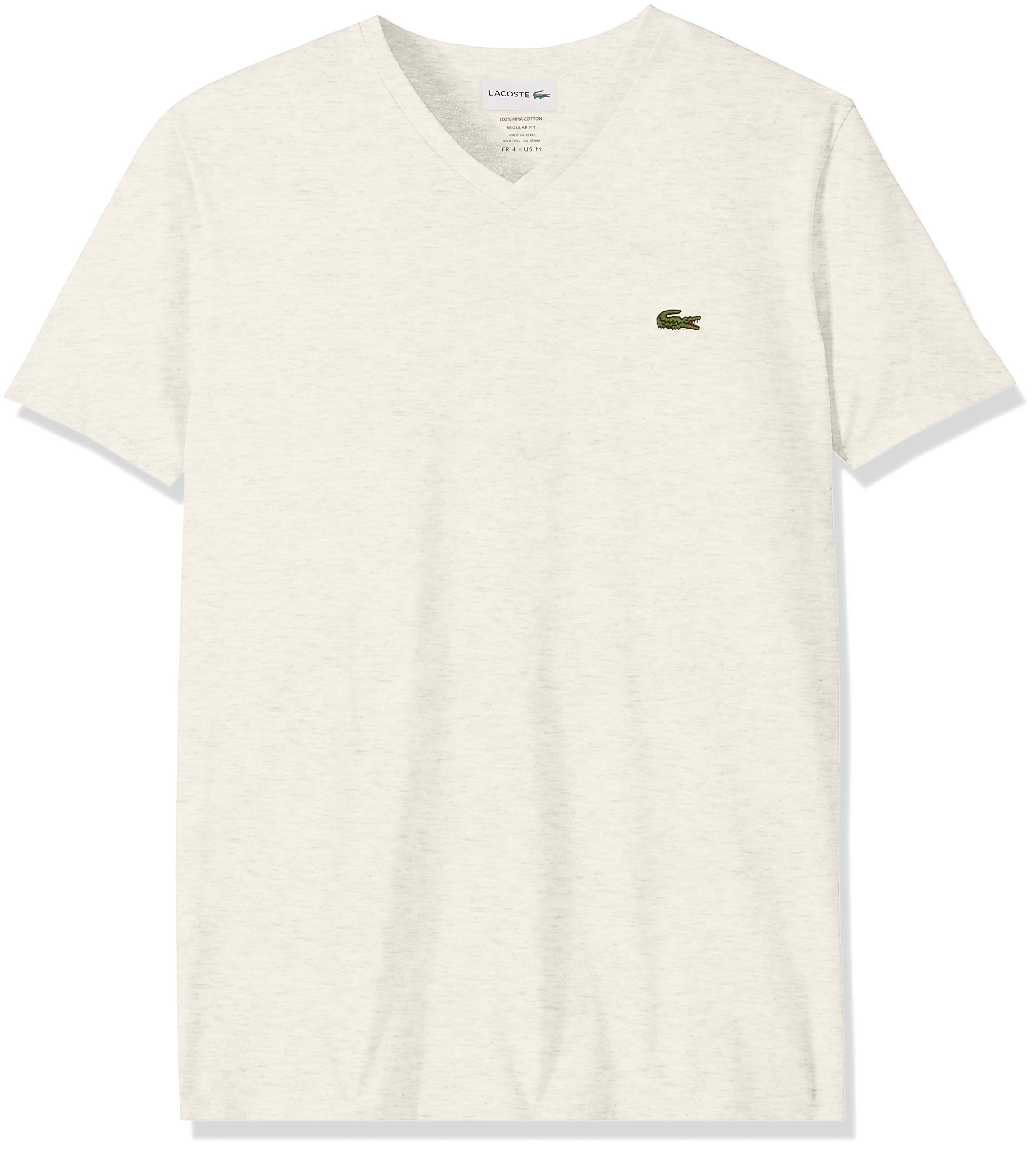 Lacoste Men's S/S V Neck PIMA Jersey T-Shirt, Alpes