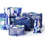 Gtrip 6 Set Packing Cubes - Travel Storage Bag Organizer Luggage Compression Pouches