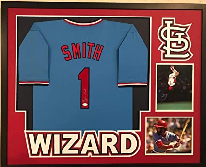 best service 453a5 82217 Framed Ozzie Smith Autographed Signed St. Louis Cardinals ...
