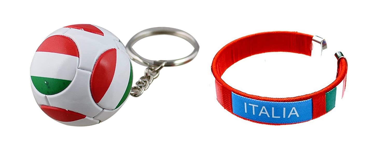 Porte-cle balón Italia Scuderia y Pulsera Supporter Buffon Euro ...