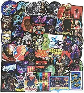 Marvel Avengers Stickers 108-Pack, Vinyl Comic Stickers for Laptop Hard Hat Bedroom Wall Decoration, Superhero Decals for Kids Teens Adults Fans Boys Girls Men Women