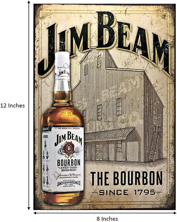 Personalised Jim Beam Bar Ironbark Slab Timber Sign 650mm Long