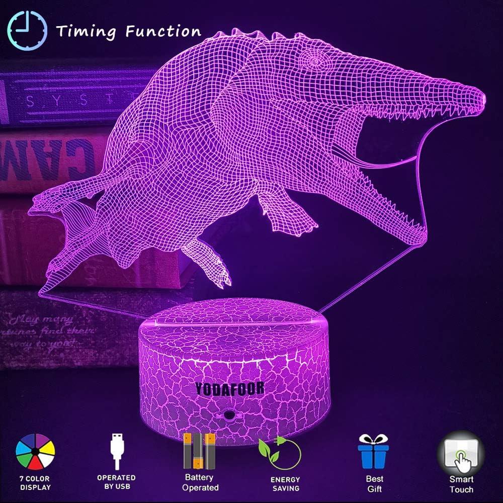 Night Lights for Kids Dinosaur 3D