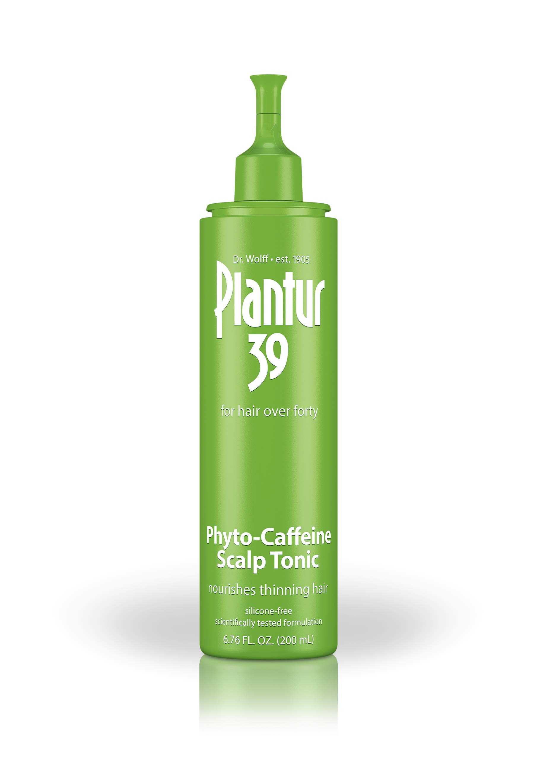 Plantur 39 Phyto Caffeine Scalp Tonic for Fine, Thinning Natural Hair Growth, Sulfate Free with Castor Oil, Niacin, Zinc