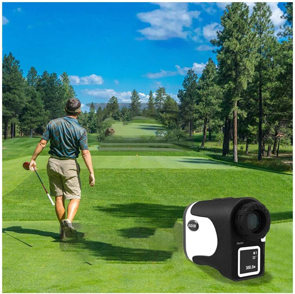 Golf Telémetro Bloqueo de Bandera Distancia Velocidad Medición Golf Trayectoria 600 Yardas 6X Range Finder Externo LCD Pantalla Legumbres Vibración Continuo Escanear
