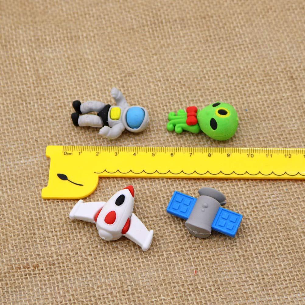 STOBOK 16pcs 3d gomme extraterrestre volant UFO espace con/çu crayon gomme 3d puzzle gommes jouets de lespace extra-atmosph/érique pour les enfants//style al/éatoire