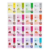 Dermal Korea Collagen Essence Full Face Facial Mask Sheet 16 Combo B Pack