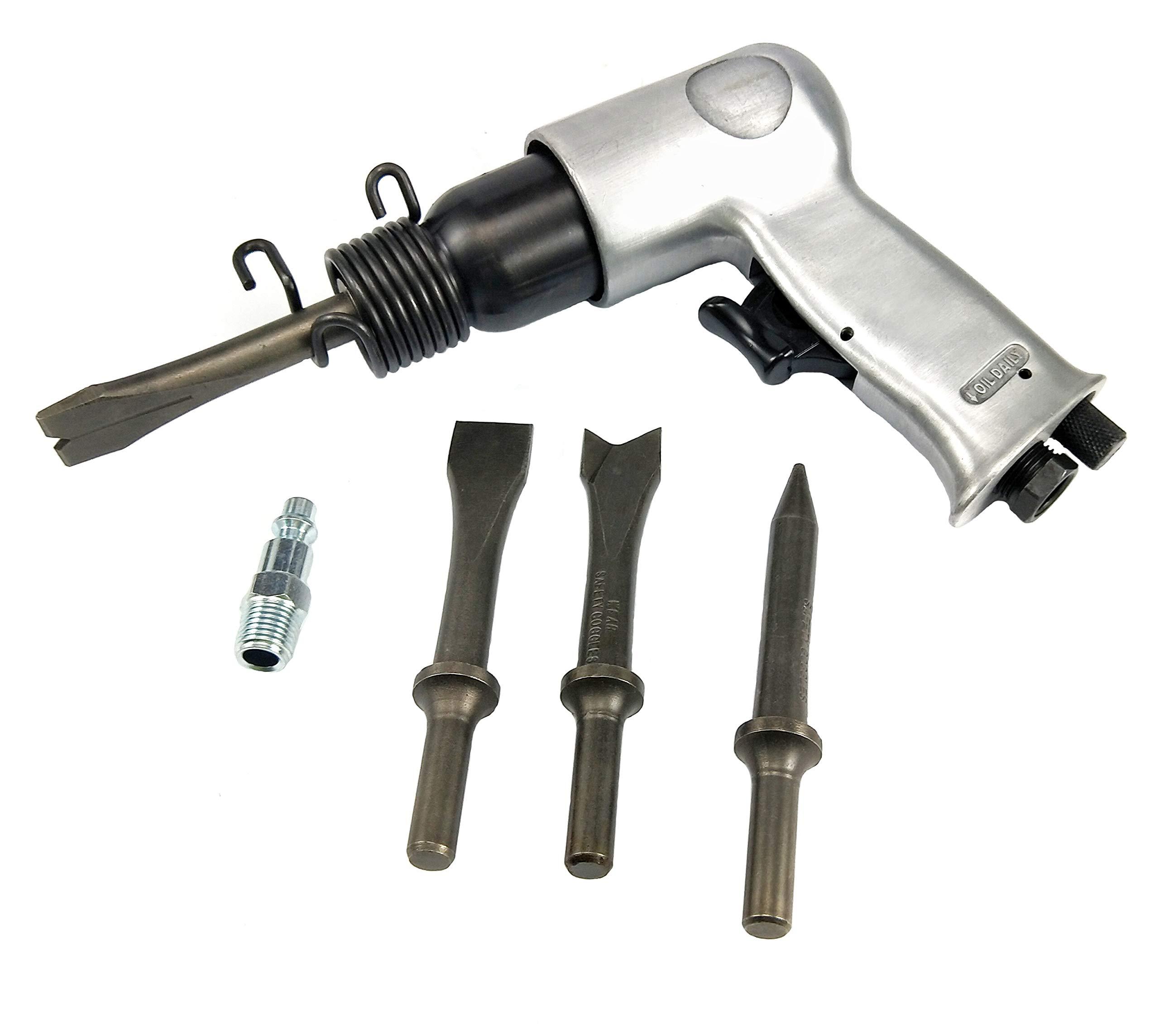 Dynamic Power Short Barrel Air Hammer Kit 4-Chisels D319115-SA