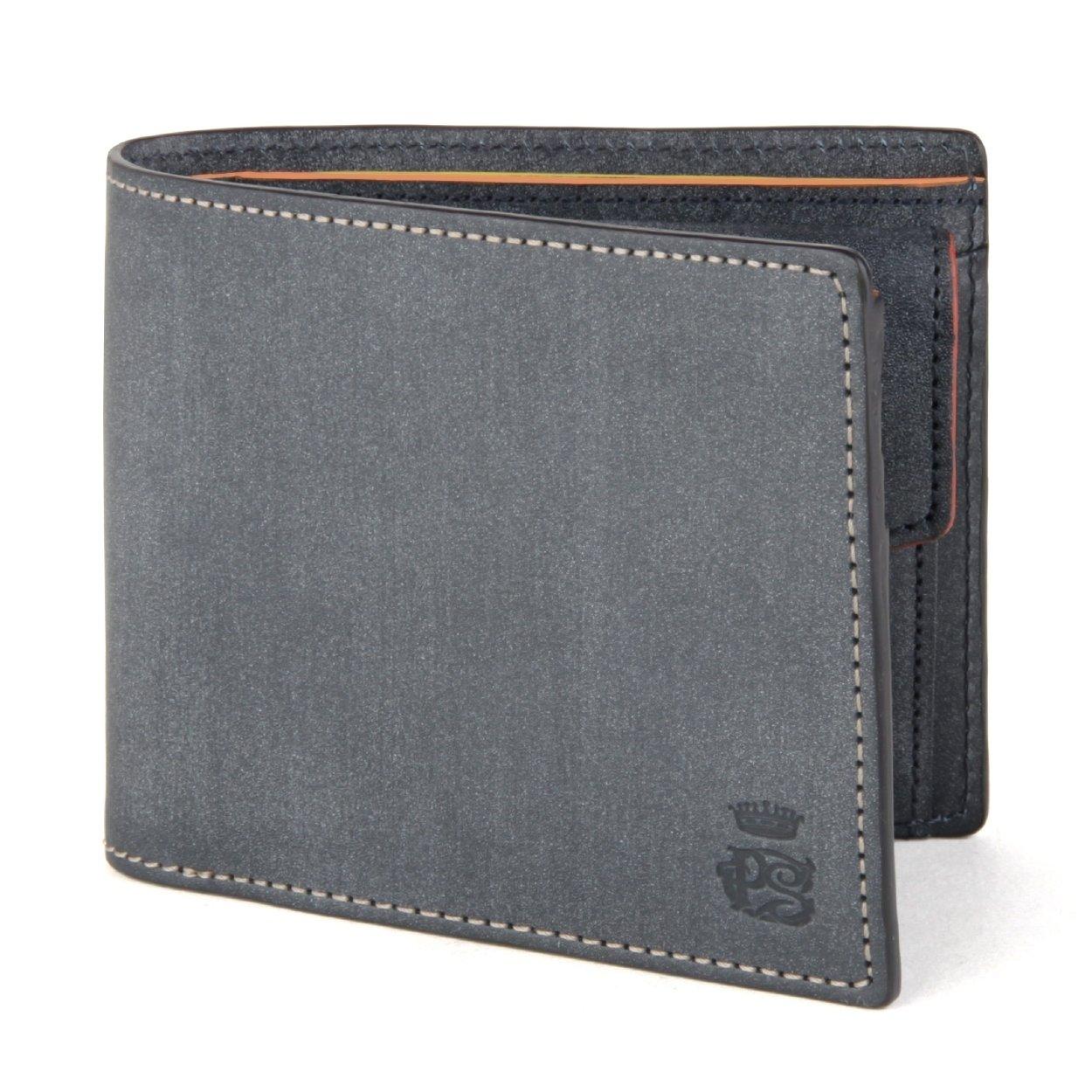 ポールスミス PAULSMITH メンズ 二つ折り 財布 ロウ ブランド 牛革 554839 J160 B00EWC1QIWグレーブラック