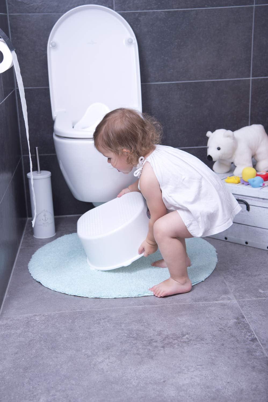 Rotho Babydesign Kids Stool Non-Slip Base and Feet 20024 0286 Stone-Grey Bella Bambina