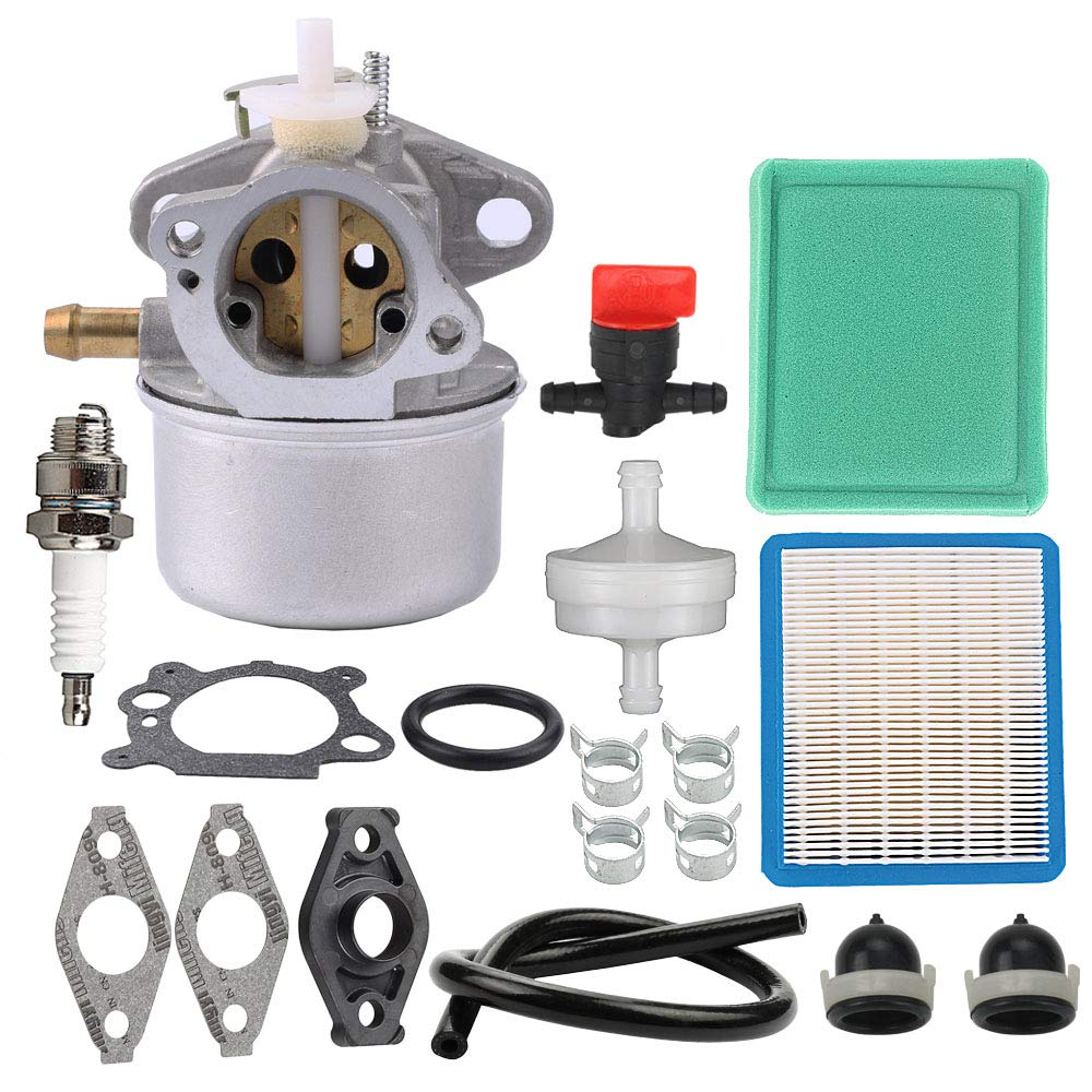 Mckin 799869 499059 Carburetor fit Briggs and Stratton 792253 497586 Engines with 491588S 491588 Air Filter Tune Up Kit