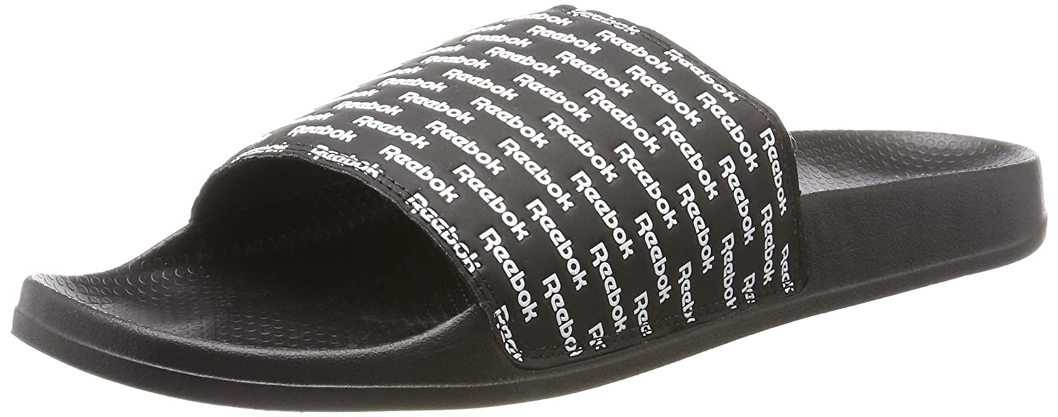 Reebok Men s Classic Slide Beach and Pool Shoes Black (RPT-Black White) 8  UK  Buy Online at Low Prices in India - Amazon.in c90dfd450