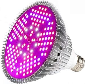 100W Led Grow Light Bulb Full Spectrum,Plant Light Bulb with 150 LEDs for Indoor Plants,E26/E27 Socket,Grow Lamp for Hydroponic Indoor Garden Greenhouse Succulent Veg Flower (100W 1Pack)
