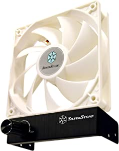 SilverStone Technology 120mm x 120mm x 25mm fan with high 110CFM airflow and black aluminum manual controller FM121B