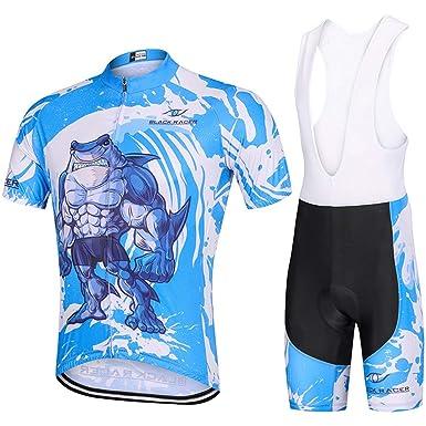 16df2d7c3 Amazon.com  SIKAIWU Men s Cycling Suits Short Sleeve Bike Jersey and Bib  Shorts  Clothing
