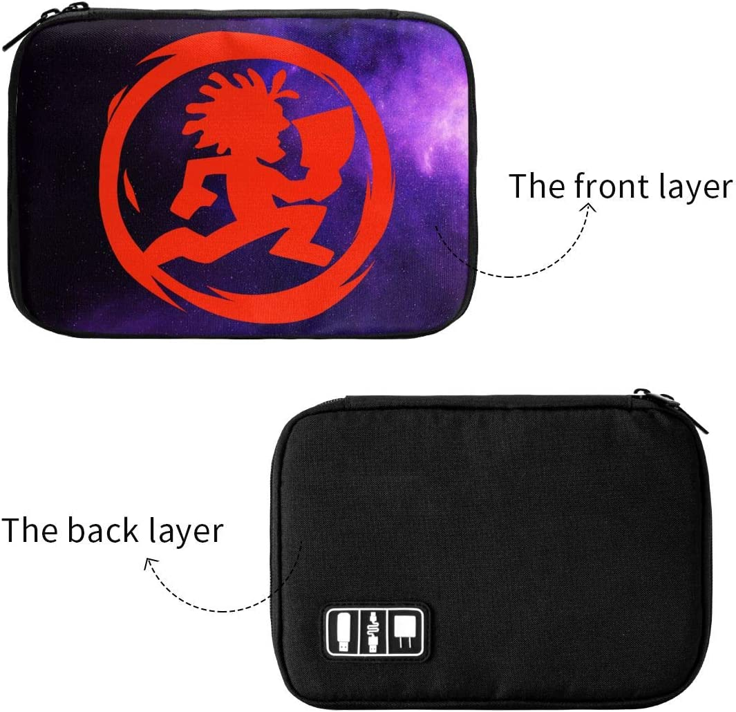 Earphone SD Card Insane Clown Data Line Storage Bag Protective Case Fit USB Charger