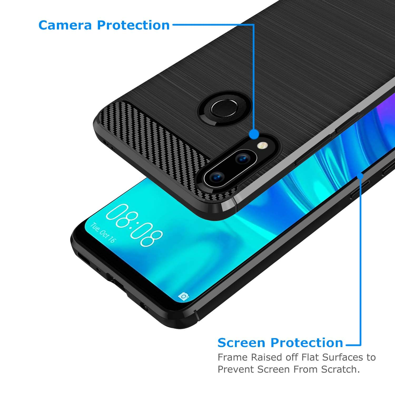 Coque-Etui-Housse-Silicone-brossee-Fibre-de-carbone-Noir-Protection-Huawei miniature 61