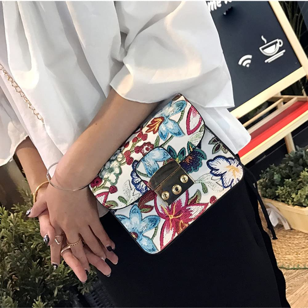 Adagod Ethnic Embroidery Bag Vintage Shoulder Messenger Bags Women Small Phone Purse WH