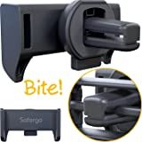 Safergo Never Fall Off Tiger Teeth [Patent Metal Clip] Heavy Duty Car Air Vent Phone Holder for Bumpy Roads
