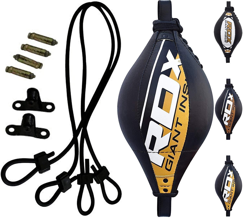RDX MMA Peras Boxeo Pera Velocidad Doble Bola End Rapida Speed Bag Gimnasio Entrenamiento…