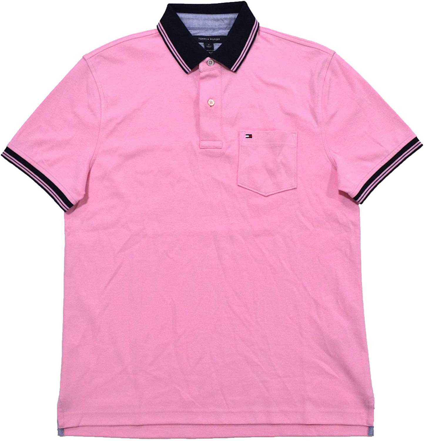 Tommy Hilfiger Mens Custom Fit Interlock Pocket Polo Shirt