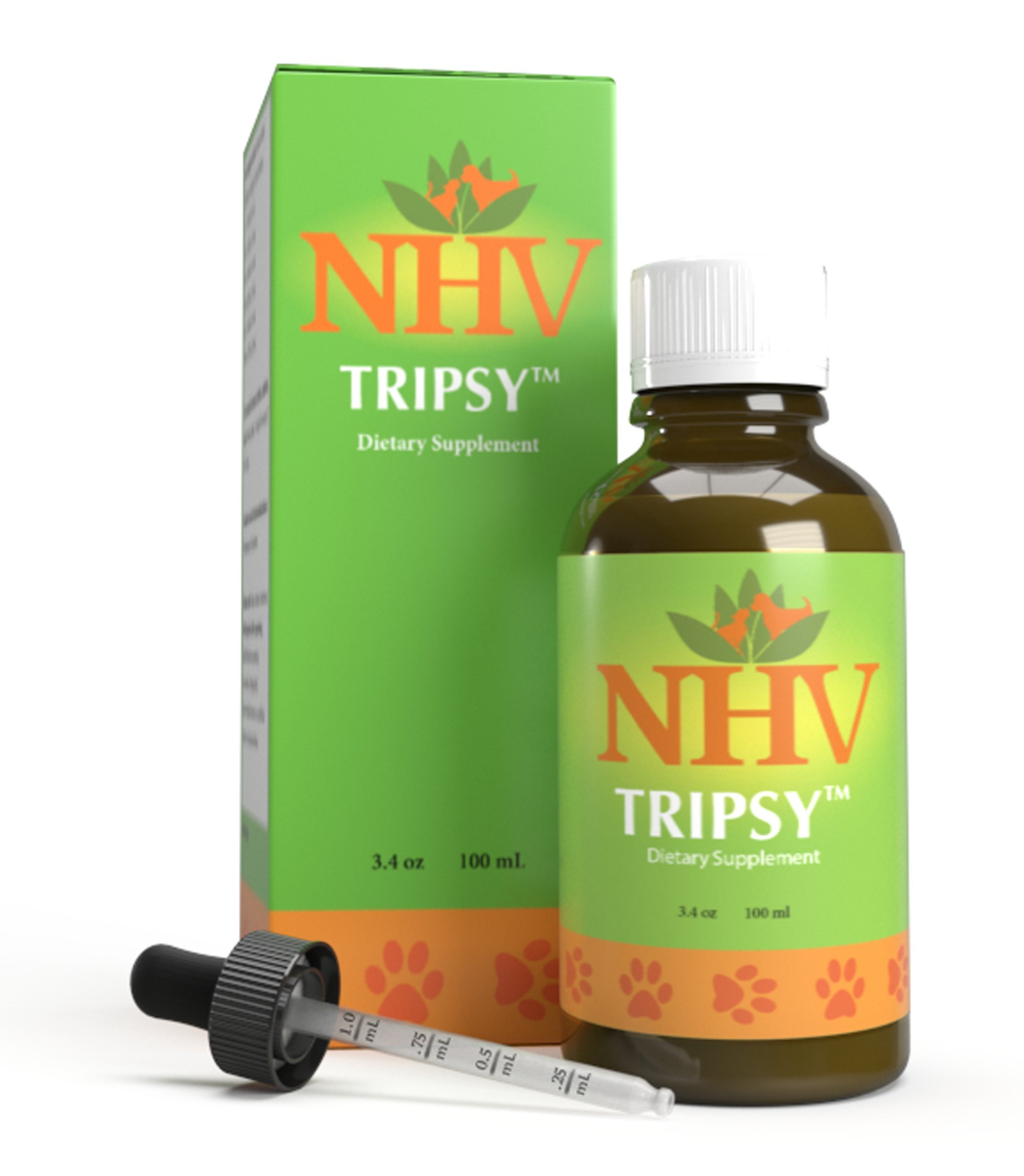 NHV Tripsy - Natural Kidney, Renal (CRF), and Urinary (UTI) Disorders Support for Cats, Dogs, and Small Pets by NHV