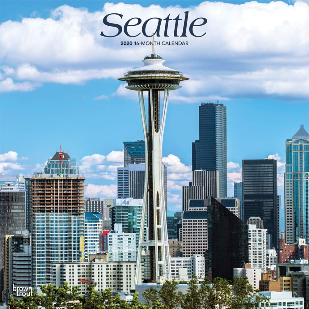 City Tech Fall 2020 Calendar Seattle 2020 12 x 12 Inch Monthly Square Wall Calendar, USA United