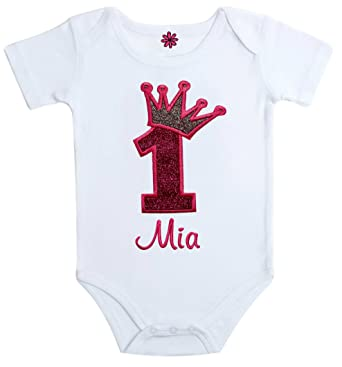 Amazon Funny Girl Designs Embroidered Sparkling First Birthday