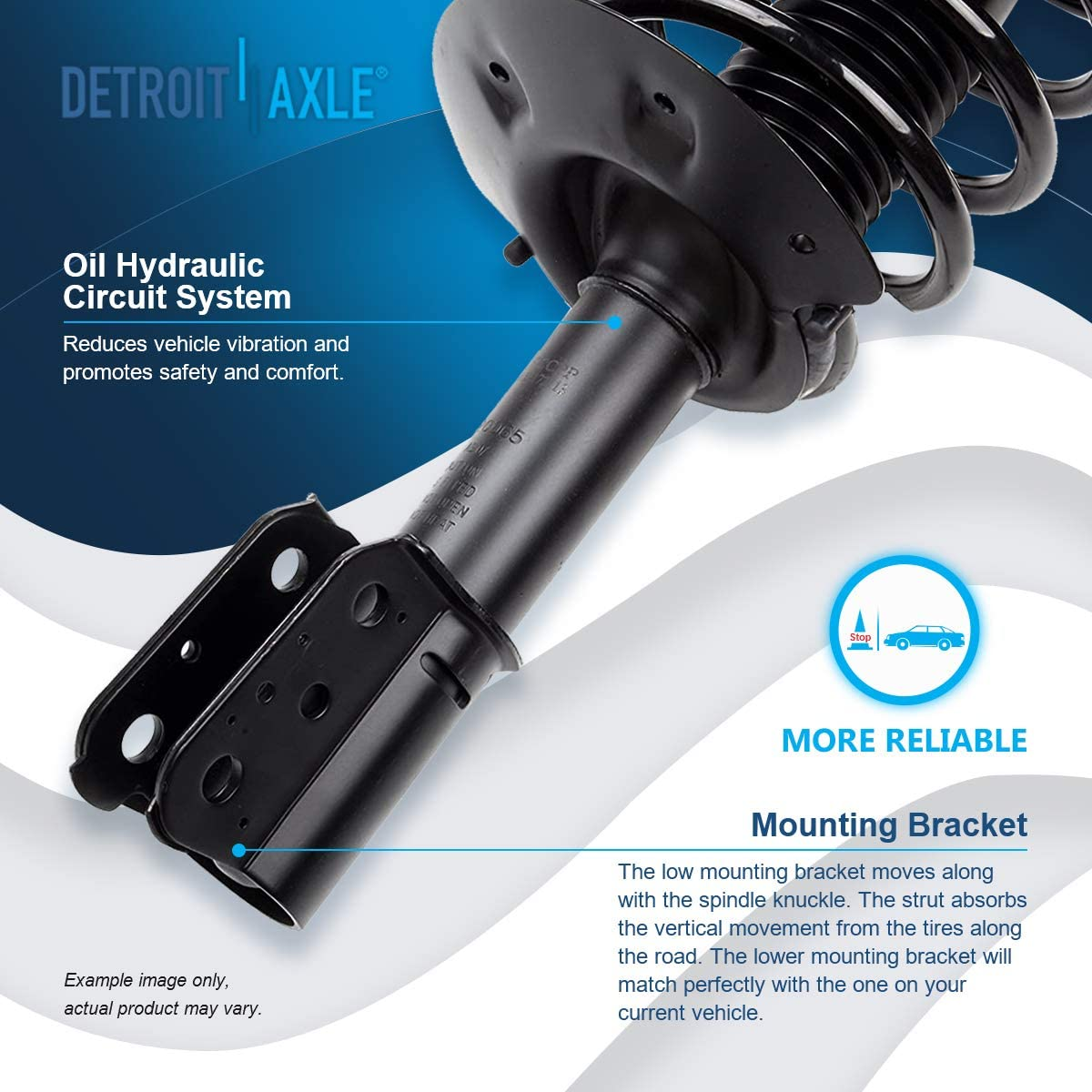 // 2001-2004 Pontiac Aztek AWD Only Front Struts w//Coil Spring /& Rear Shock Absorbers for 2002-2006 Buick Rendezvous Detroit Axle Exc. Automatic Leveling Suspension