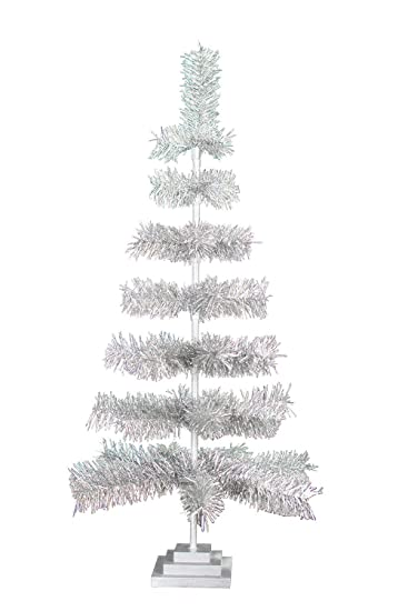 Christmas Tree Tinsel.48 Silver Tinsel Christmas Trees 4ft Vintage Classic Feather Tree Style Holiday Seasonal Home Decor Centerpiece Weddings Store Merchandising Display