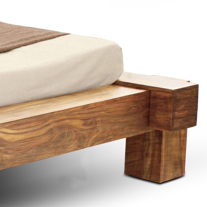 SAM® Massiv-Holzbett 180x200 cm, Yoga Double, natur, Sheesham-Holz ...