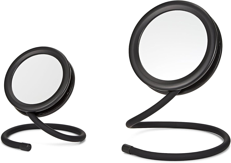 Joy Mangano Set of 2 Handy Hook Mirror, Black