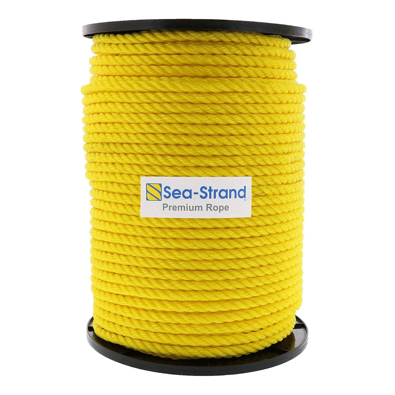 Sea-Strand 1/2'' x 600' Reel, Yellow, 3-Strand Polypropylene Rope